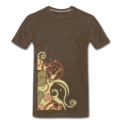Vintage Woman with Swirls Graphic - Men's Premium T-Shirt