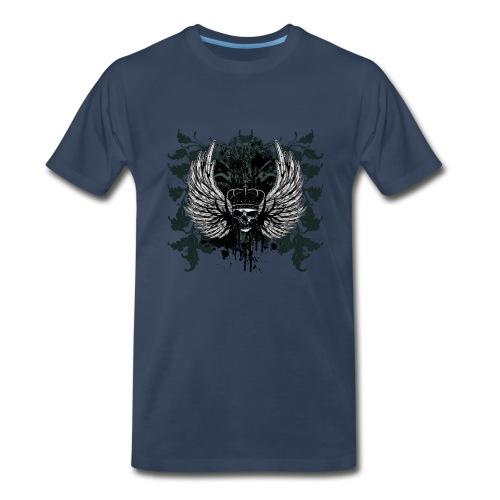 Winged Skull Graphic - Men's Premium T-Shirt
