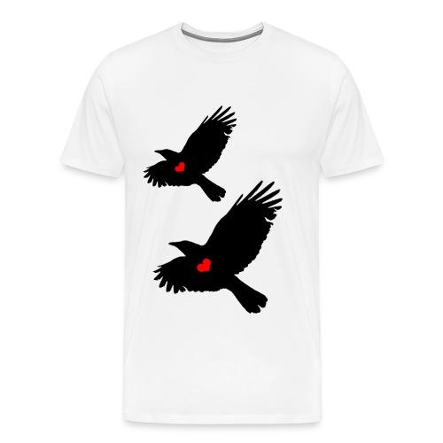 Crows in Flight - Men's Premium T-Shirt