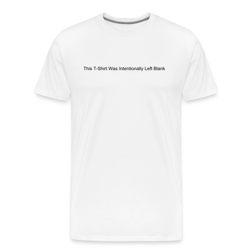 Intentional Blank - Mens Heavyweight T - Men's Premium T-Shirt