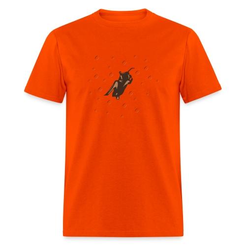 Space Bat Hangs On Heavyweight Mens Tee - Men's T-Shirt