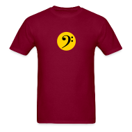 T-Shirts ~ Men's T-Shirt ~ Bass Clef in Circle