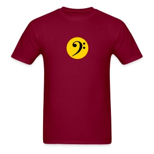Bass Clef in Circle - Men's T-Shirt