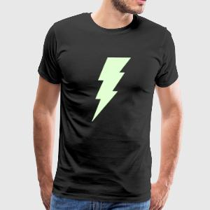 Lightning Bolt T Shirt (Glow in the Dark) - Men's Premium T-Shirt
