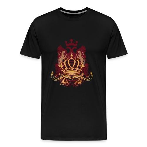 Designer Heraldy Crown Graphic - Men's Premium T-Shirt