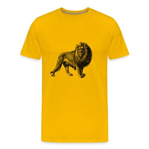 Lion Men's T-shirt - Modern - Men's Premium T-Shirt