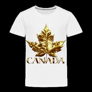 Toddler Canada T-shirt Baby Toddler Gold Maple Leaf Canada Souvenir Tee - Toddler Premium T-Shirt