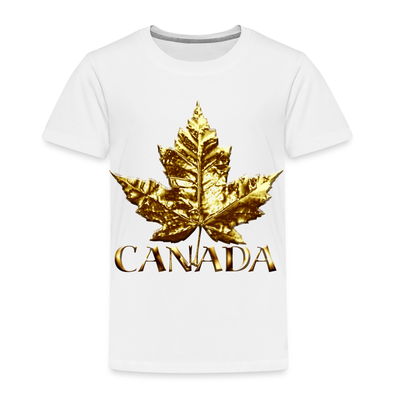 Toddler Canada T-shirt Baby Toddler Gold Maple Leaf Canada Souvenir Tee - Toddler Premium T-Shirt