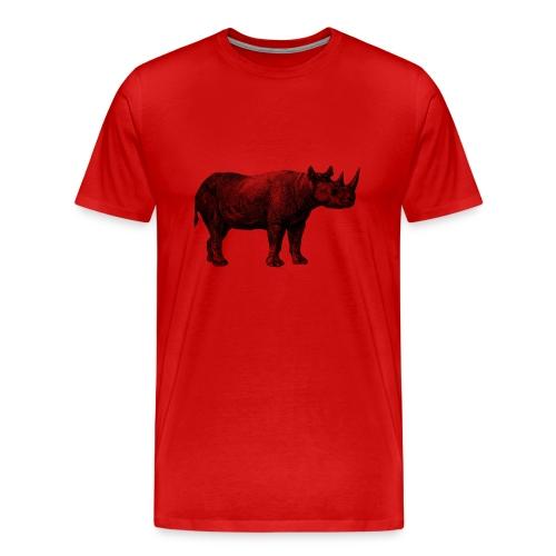 Rhino Men's T-shirt - Modern - Men's Premium T-Shirt