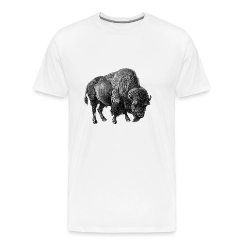 Bison Men's T-shirt - Modern - Men's Premium T-Shirt
