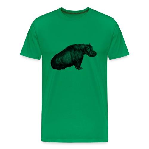 Hippo Men's T-shirt - Modern - Men's Premium T-Shirt