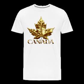 Canada Mens XXXL T-shirt Gold Maple Leaf Canada Souvenir XXXL T-shirt ~ 1850