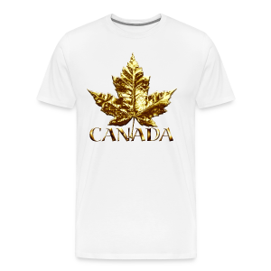 Canada Mens XXXL T-shirt Gold Maple Leaf Canada Souvenir XXXL T-shirt - Men's Premium T-Shirt