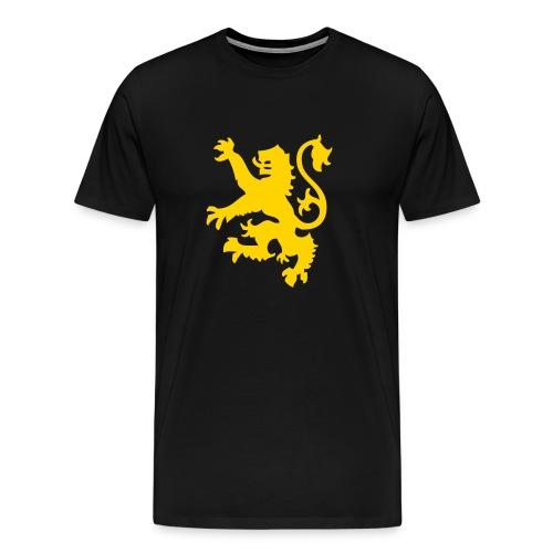 Black and gold lion rampant - Men's Premium T-Shirt