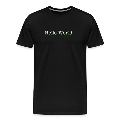 Hello World - Men's Premium T-Shirt