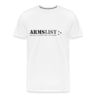 T-Shirts ~ Men's Premium T-Shirt ~ ARMSLIST Logo Tee - Heavyweight