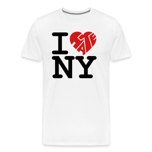i hate ny - Men's Premium T-Shirt