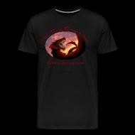 T-Shirts ~ Men's Premium T-Shirt ~ Heavyweight Black Raven Shirt