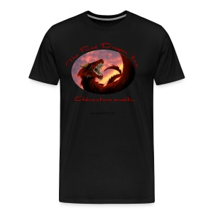 Heavyweight Black Raven Shirt - Men's Premium T-Shirt