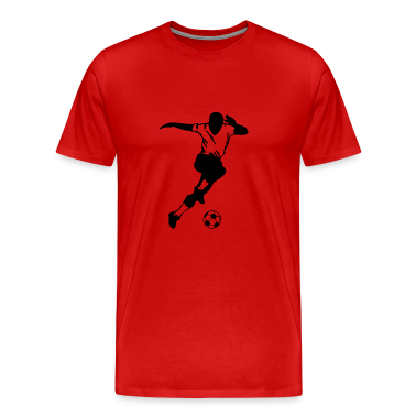 Red cool soccer player T-Shirts