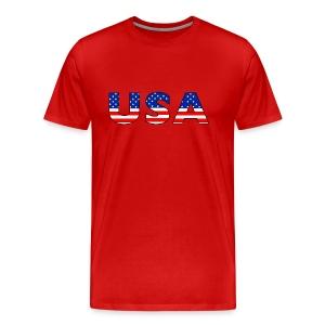 USA Cap - Men's Premium T-Shirt