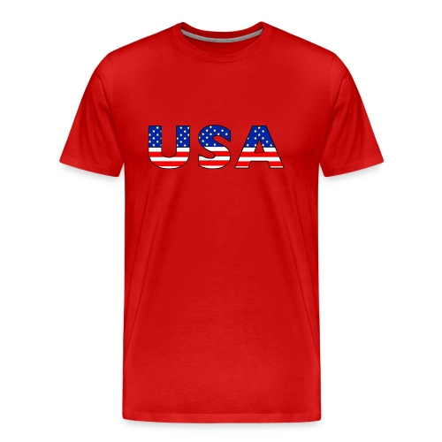 USA Cap - Men's Premium T-Shirt