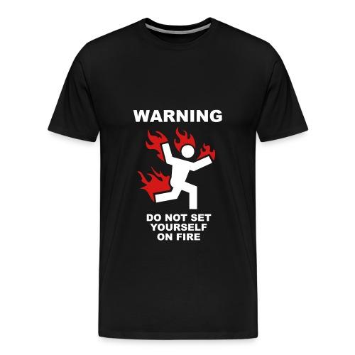 Fire on Black - Men's Premium T-Shirt
