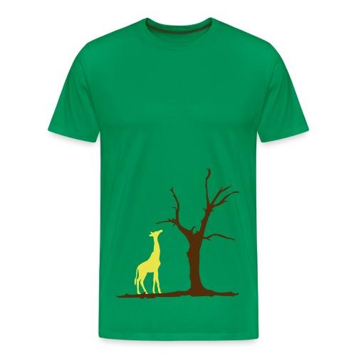 Giraffe under a tree - Men's Premium T-Shirt