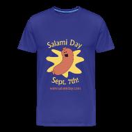 T-Shirts ~ Men's Premium T-Shirt ~ Salami Day: Happy Salami
