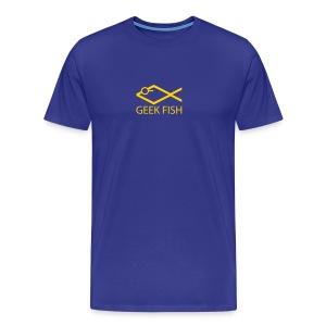 Geek Fish - Christian in College - Men's Premium T-Shirt