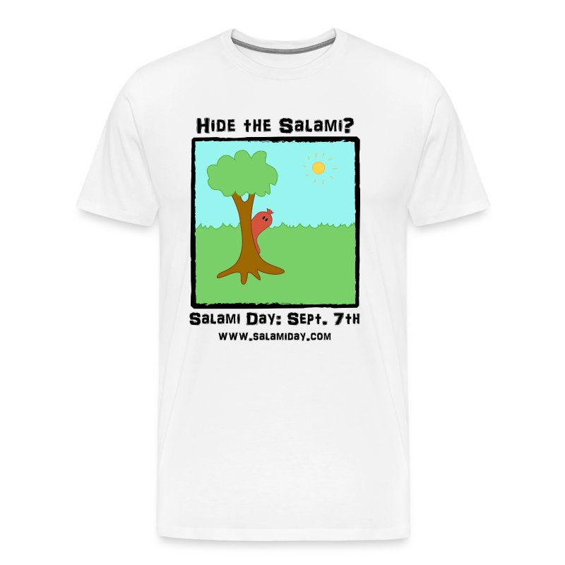 Salami Day: Hide the Salami? - Men's Premium T-Shirt