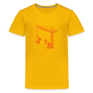 Big 3 [orange on yellow] - Kids' Premium T-Shirt