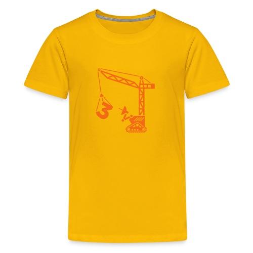 Big 3 [orange on yellow] - Kids' Premium T-Shirt