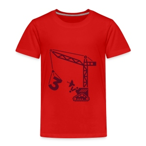 Big 3 [dark red on red] - Toddler Premium T-Shirt
