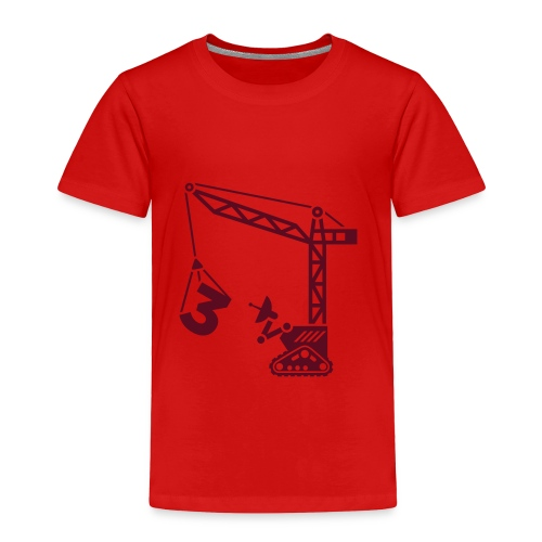 Big 3 [dark red on red] - Toddler Premium T-Shirt