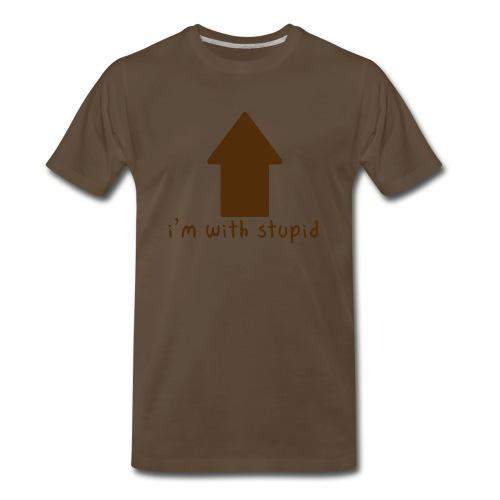 I'm With Stupid - Men's Premium T-Shirt
