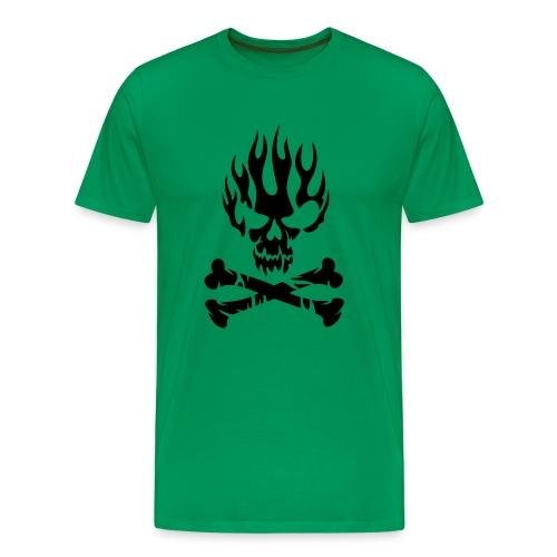 Flame Skull tshirt - Men's Premium T-Shirt