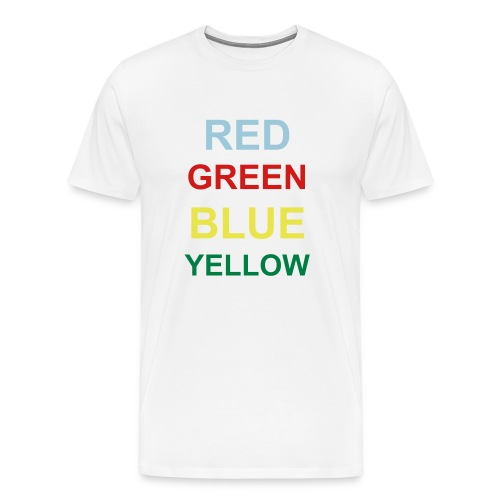 RED/GREEN/BLUE/YELLOW - Men's Premium T-Shirt