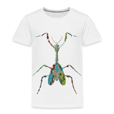 White INSECT : MANTIS Toddler Shirts