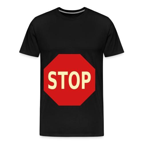 Stop Sign on Black - Men's Premium T-Shirt