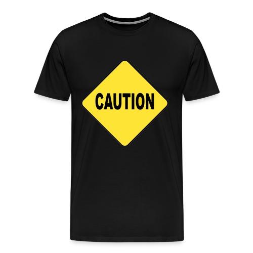 Caution on Black - Men's Premium T-Shirt