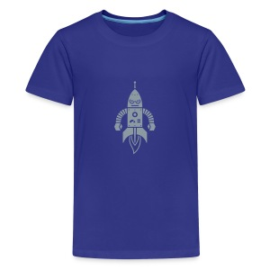 Astrobot [silver on blue] - Kids' Premium T-Shirt