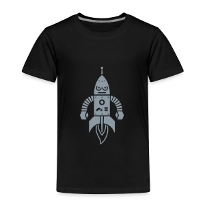 Astrobot [silver on black] - Toddler Premium T-Shirt