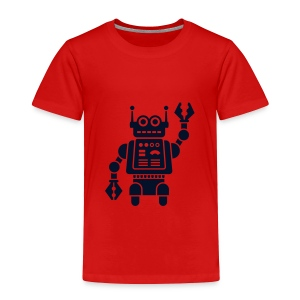 Friendly Robot [sparkly blk on red] - Toddler Premium T-Shirt