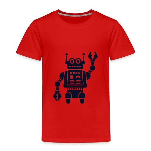 Friendly Robot [sparkly blk on red] - Toddler Premium T-Shirt