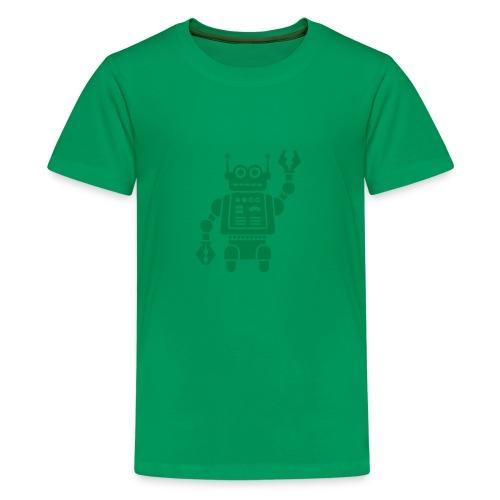 Friendly Robot [dk grn on grn] - Kids' Premium T-Shirt
