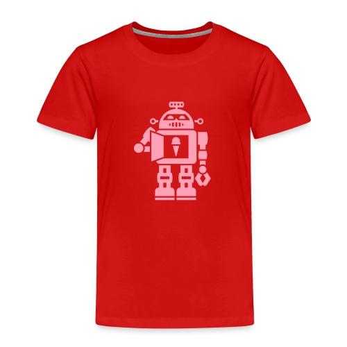 Ice Cream Robot [Pink on Red] - Toddler Premium T-Shirt