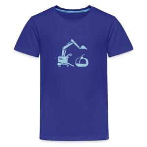 Ice Cream Scoop [Lt Blue on Blu] - Kids' Premium T-Shirt