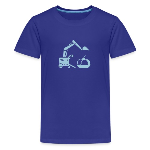 Ice Cream Scoop [Lt Blue on Blu] - Kids' Premium T-Shirt