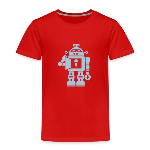 Ice Cream Robot [Lt Blu on Red] - Toddler Premium T-Shirt